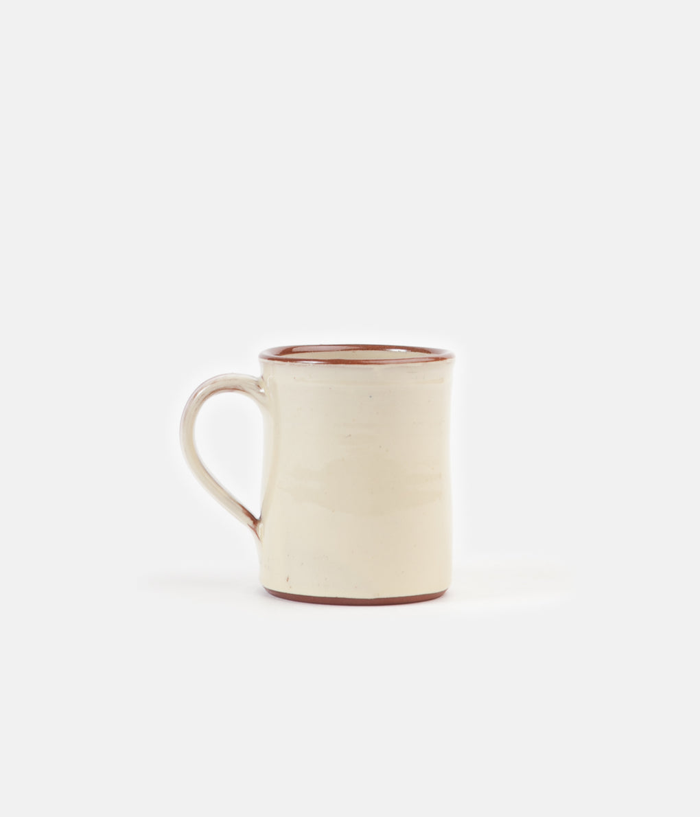 Tender Hand Thrown Natural Red Clay Coffee Mug - Clear Glaze