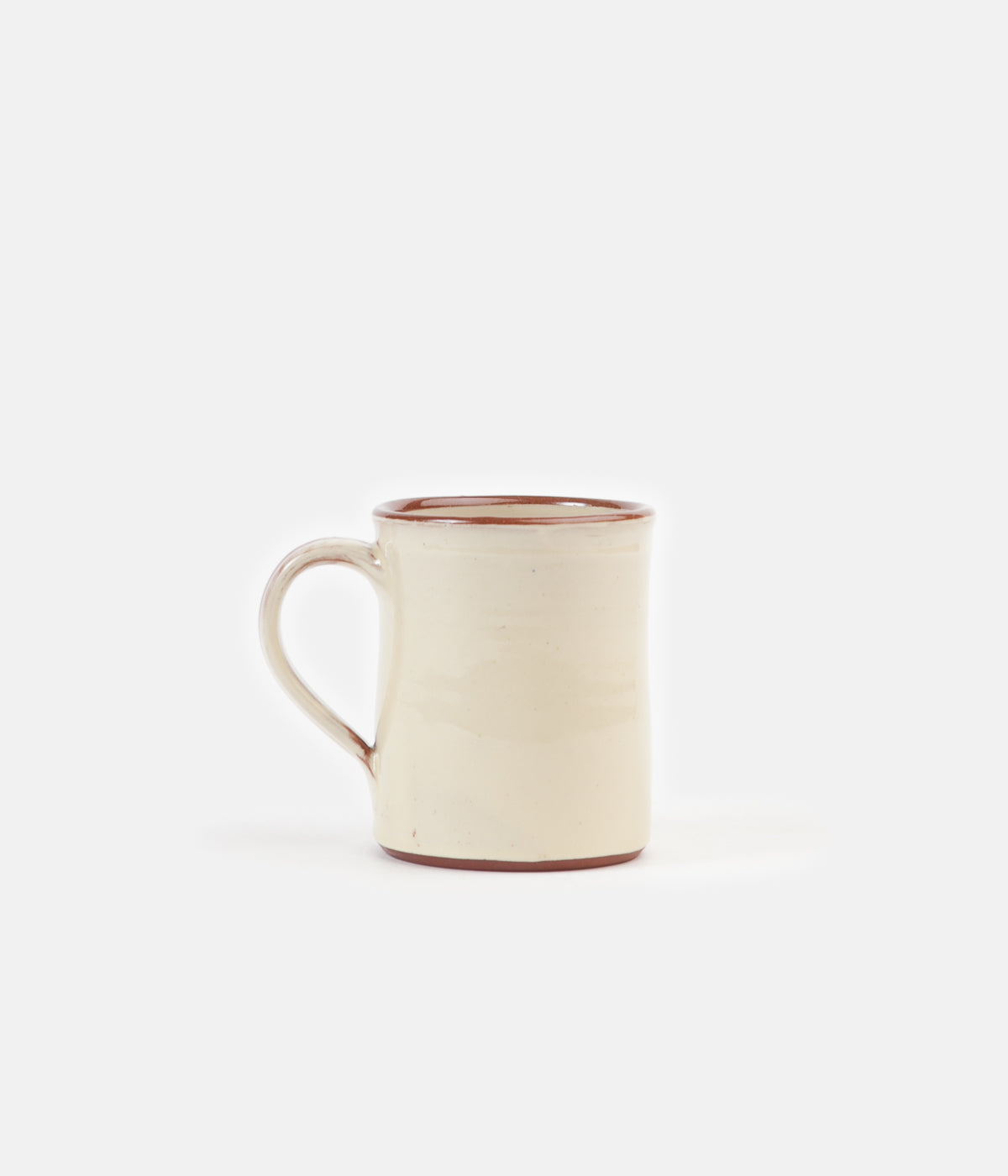 Tender Hand Thrown Natural Red Clay Coffee Mug Clear Glaze Always In Colour