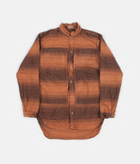 Image for Tender Type 427 Periscope Pocket Tail Shirt - Indigo Doppler Stripe Calico Red Ochre Dye
