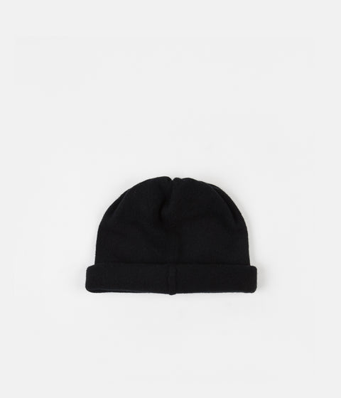 Tender Type 837 Large Drawn Knitted Hat - Black Cold Felted Lambswool