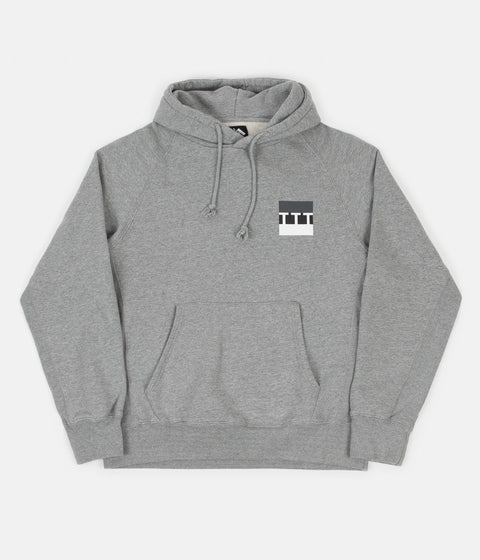 The Trilogy Tapes Block Hoodie  - Grey Marl