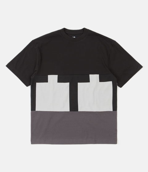 The Trilogy Tapes Cut & Sew T-Shirt - Black / Grey