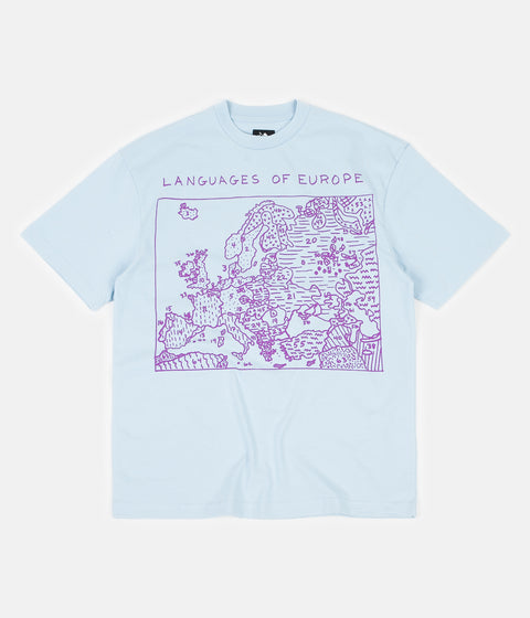 The Trilogy Tapes Languages T-Shirt - Blue