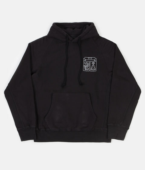 The Trilogy Tapes Shield Hoodie - Black