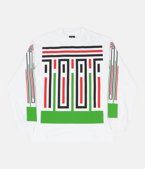 The Trilogy Tapes Stripes Long Sleeve T-Shirt - White