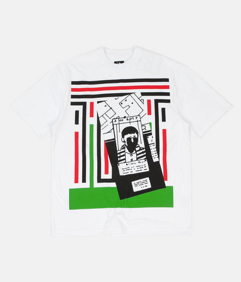 The Trilogy Tapes Stripes Strip T-Shirt - White