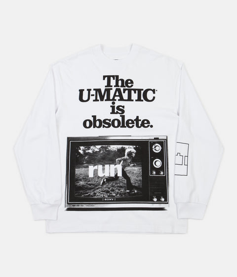 The Trilogy Tapes U-Matic Long Sleeve T-Shirt - White