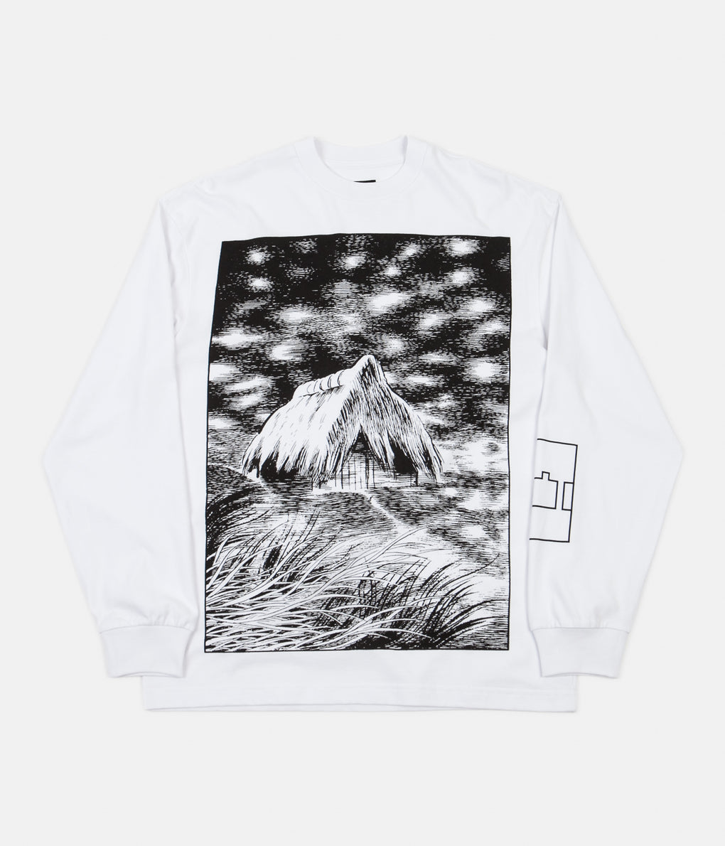 The Trilogy Tapes Unwanted Shelter Long Sleeve T-Shirt - White