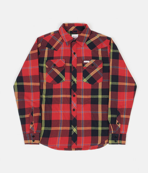 Topo Designs Mountain Shirt - Red / Navy Plaid
