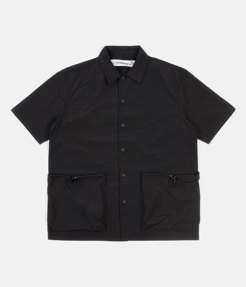 Uniform Bridge Two Pocket Short Sleeve Shirt - Black