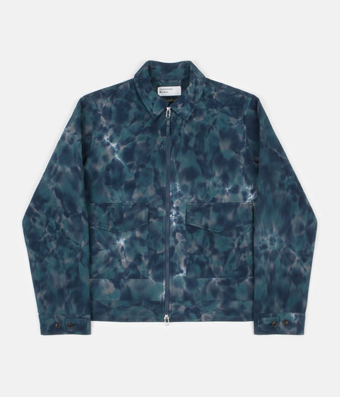 Universal Works Battleman Jacket - Space Dye Seersucker Blue