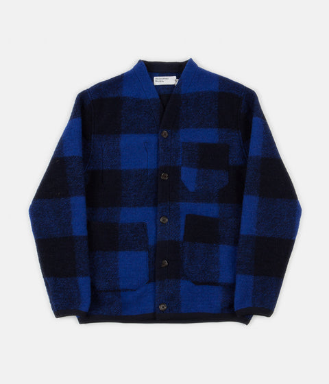 Universal Works Cardigan - Blue Check