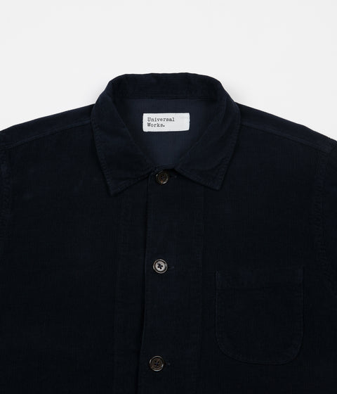 Universal Works Cord Bakers Overshirt - Navy