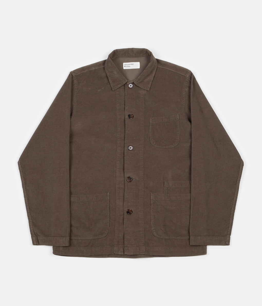 Universal Works Cord Bakers Overshirt - Olive