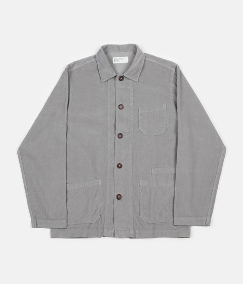 Universal Works Cord Bakers Overshirt - Pale Grey
