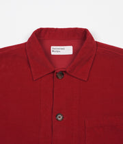 Universal Works Cord Bakers Overshirt - Red