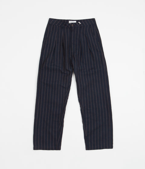 Universal Works Double Pleat Trousers - Navy