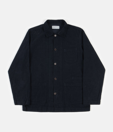 Universal Works Fine Cord Bakers Overshirt - Navy