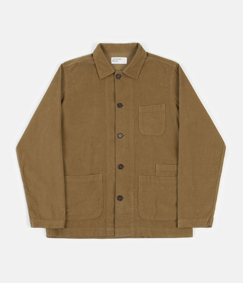 Universal Works Fine Cord Bakers Overshirt - Taupe