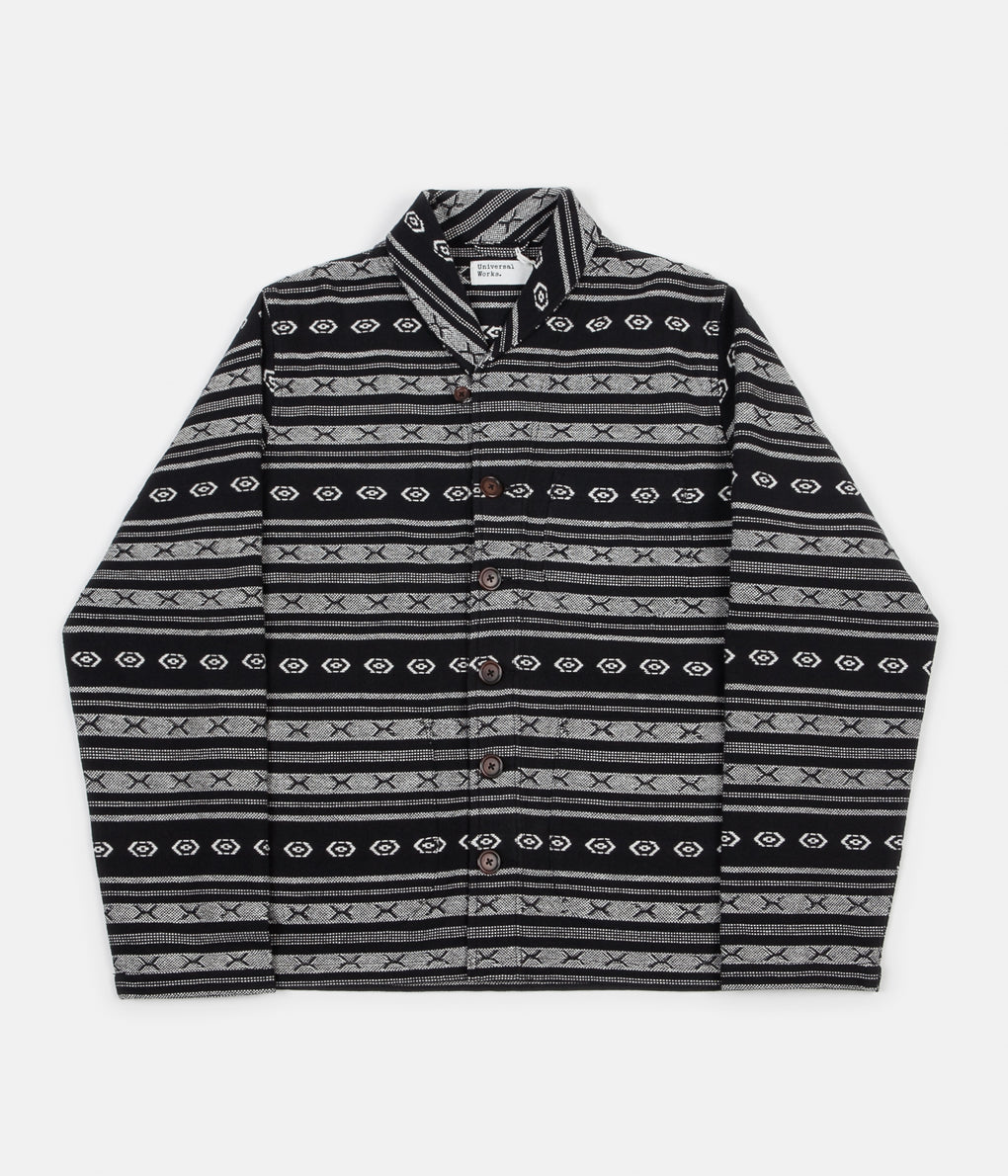 Universal Works HD Stripe Prairie Jacket - Black