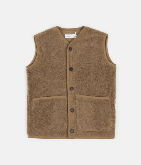 Universal Works Lancaster Mountain Fleece Gilet - Sand