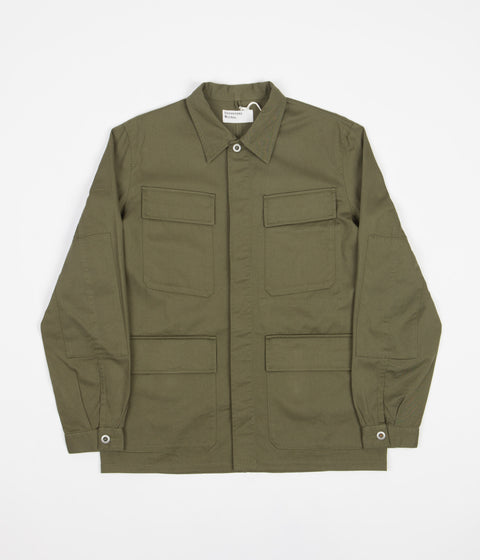 Universal Works Midweight Fatigue Jacket - Light Olive Twill