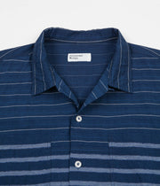 Universal Works Panel Shirt - Midnight Stripe Mix