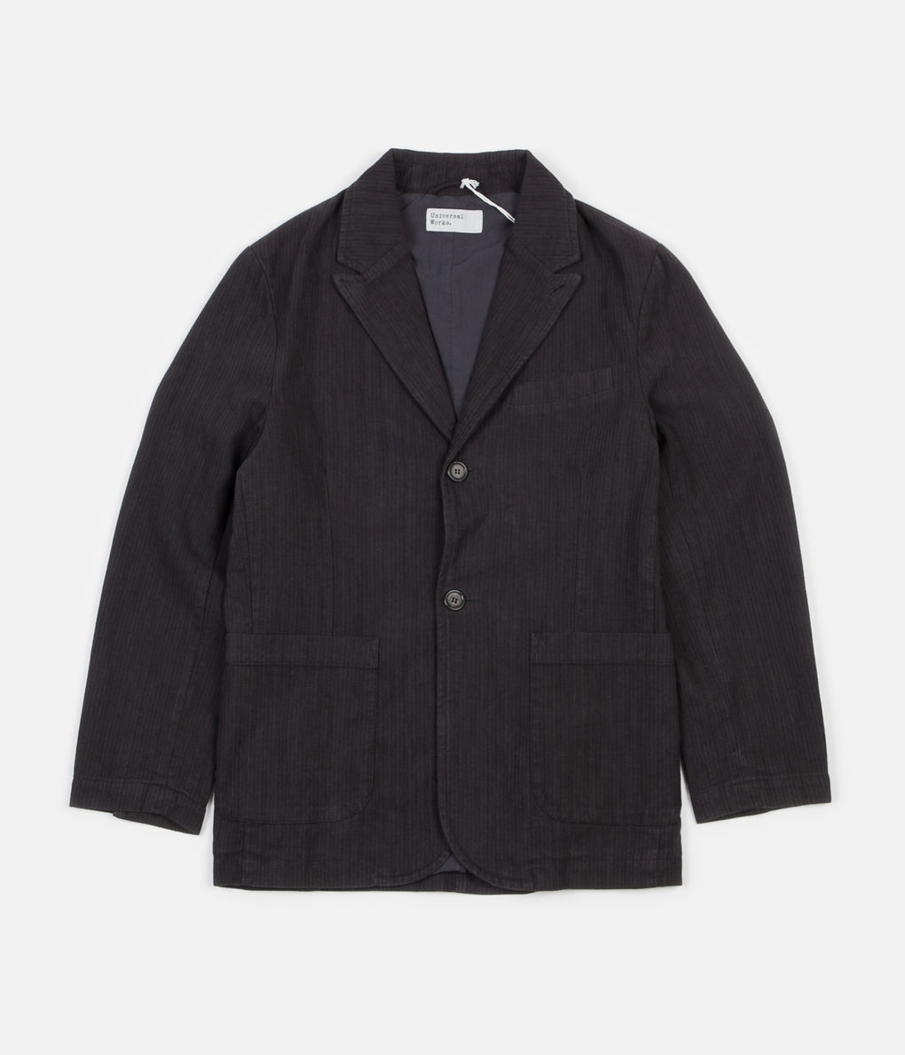 Universal Works Peak Lapel Jacket - Charcoal