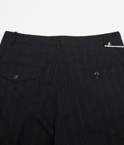 Universal Works Pleated Pants - Raised Pinstripe Navy