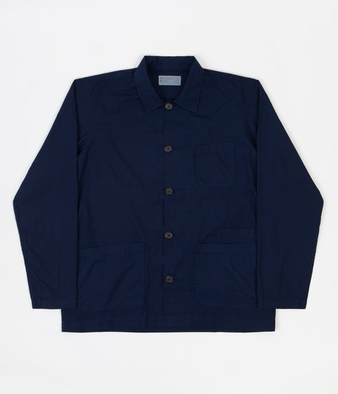 Universal Works Poplin Bakers Overshirt - Navy