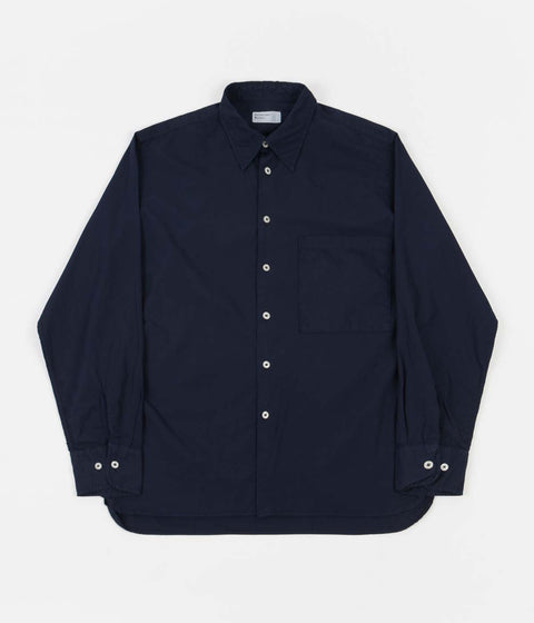 Universal Works Poplin Big Pocket Shirt - Navy