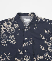 Universal Works Road Shirt - Flower Poplin Navy