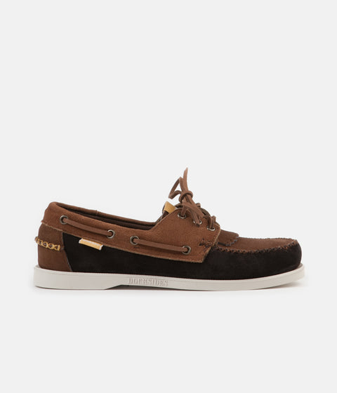 Universal Works x Sebago Portland Suede Shoes - Dark Brown