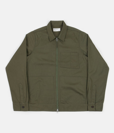 Universal Works Zip Uniform Jacket - Light Olive