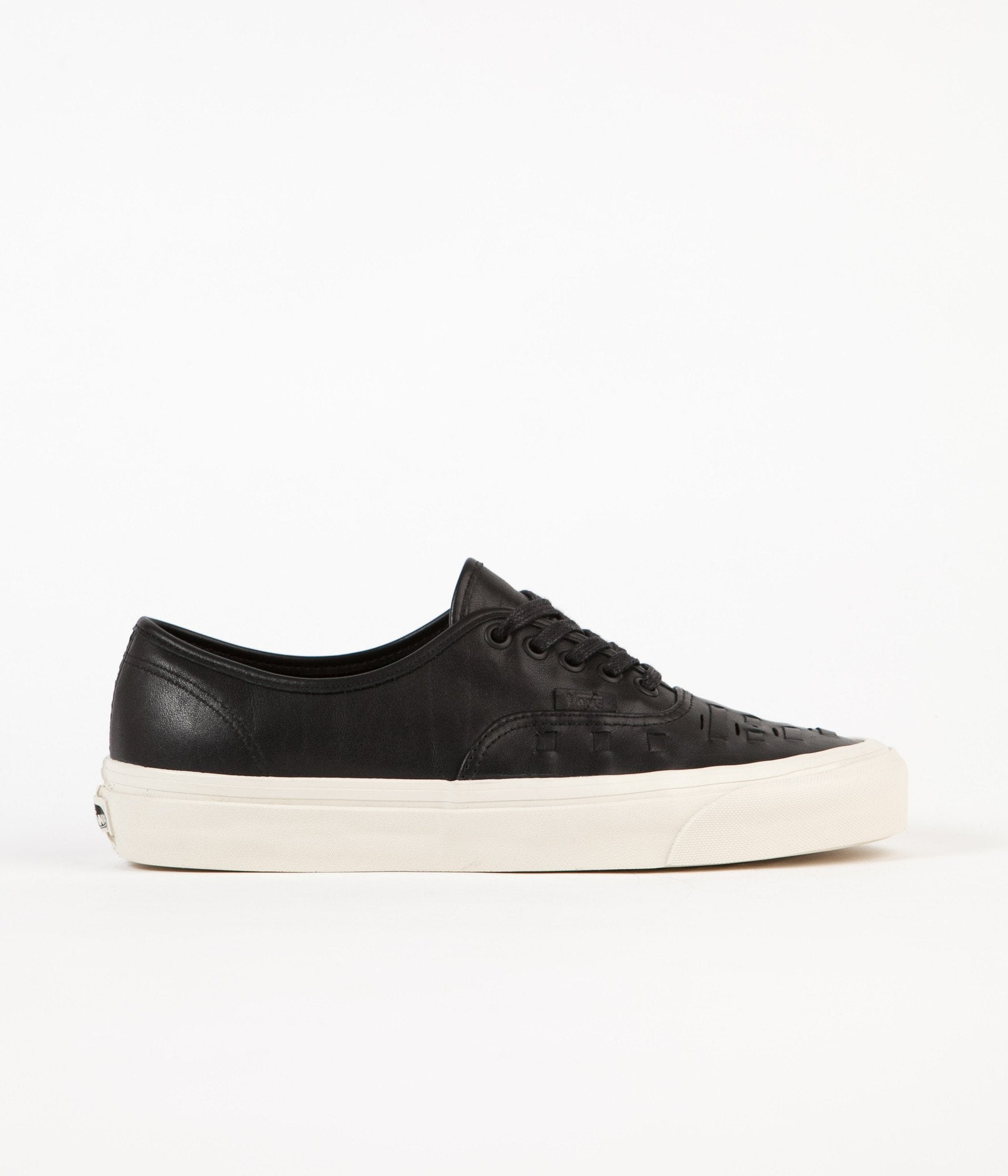 65bc484de7 ... Vans Authentic Weave DX Leather Shoes - Black ...