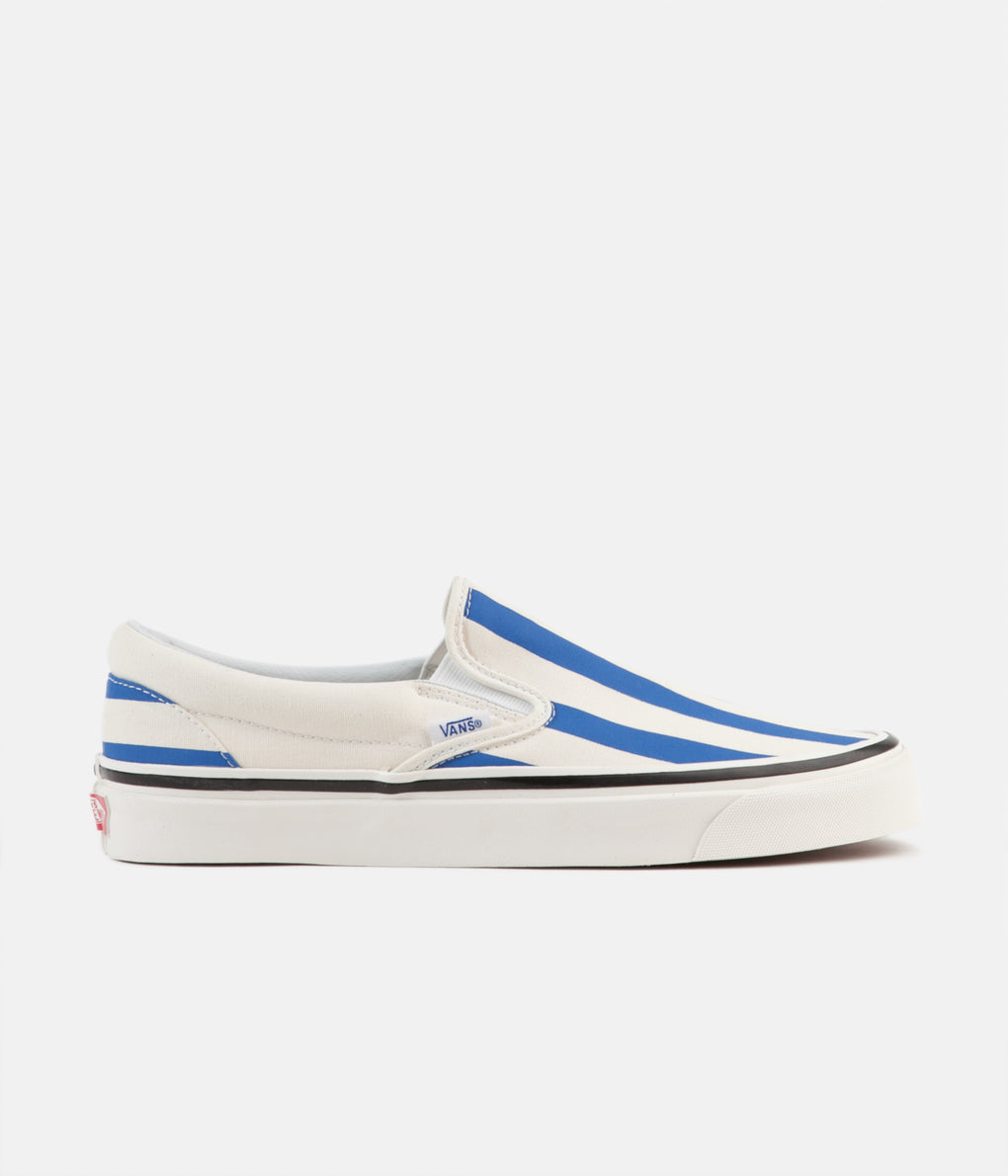 Vans Classic Slip-On 98 DX Anaheim Factory Shoes - OG White / OG Blue / Big Stripes