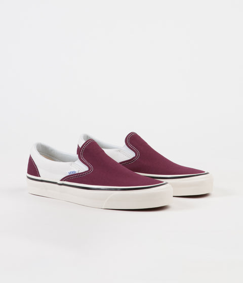 Vans Classic Slip-On 98 DX Anaheim Factory Shoes - OG Burgundy / White