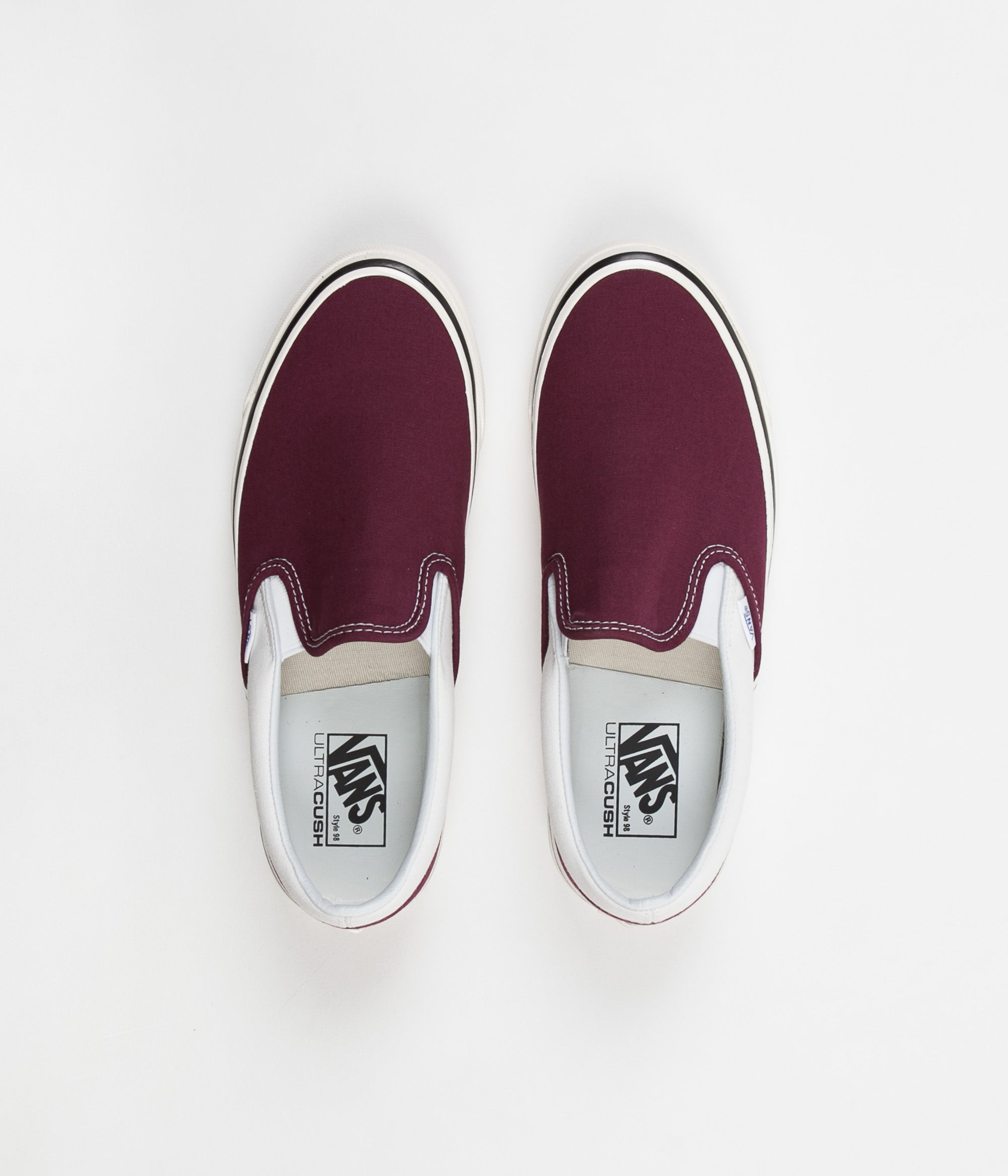 3cfa60e7652 Vans Classic Slip-On 98 DX Anaheim Factory Shoes - OG Burgundy   White ...