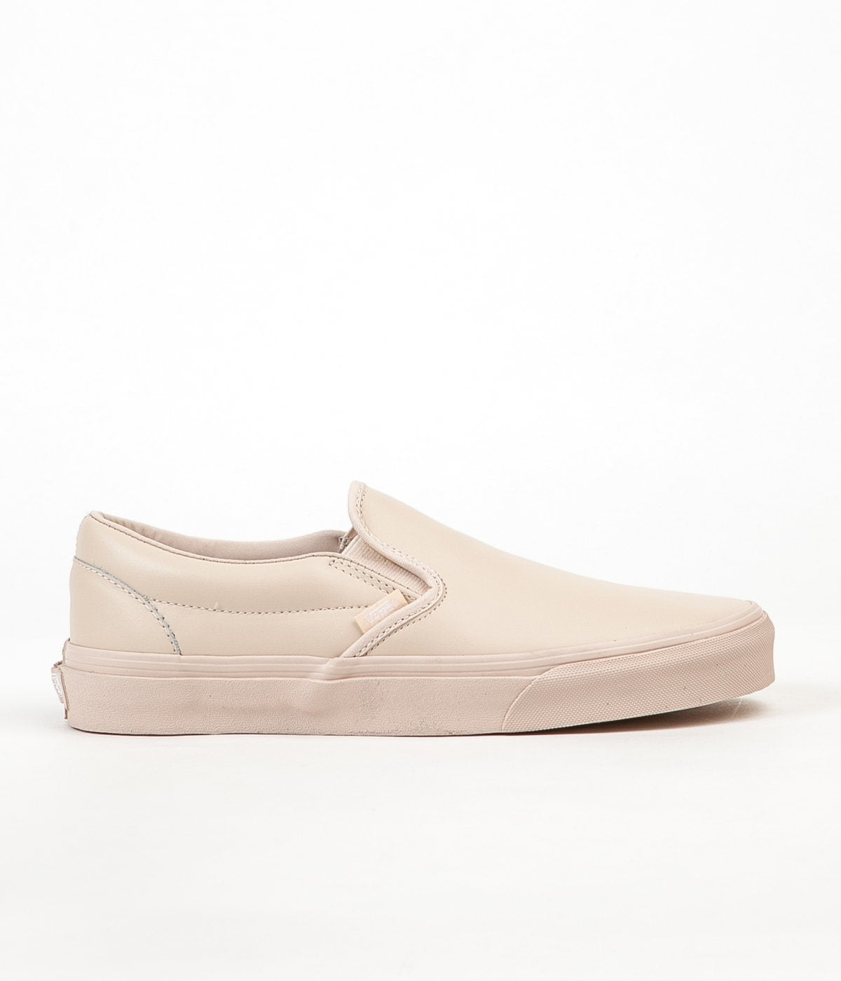 1440d300a37a ... Vans Classic Slip On Leather Shoes - Whisper Pink   Mono ...