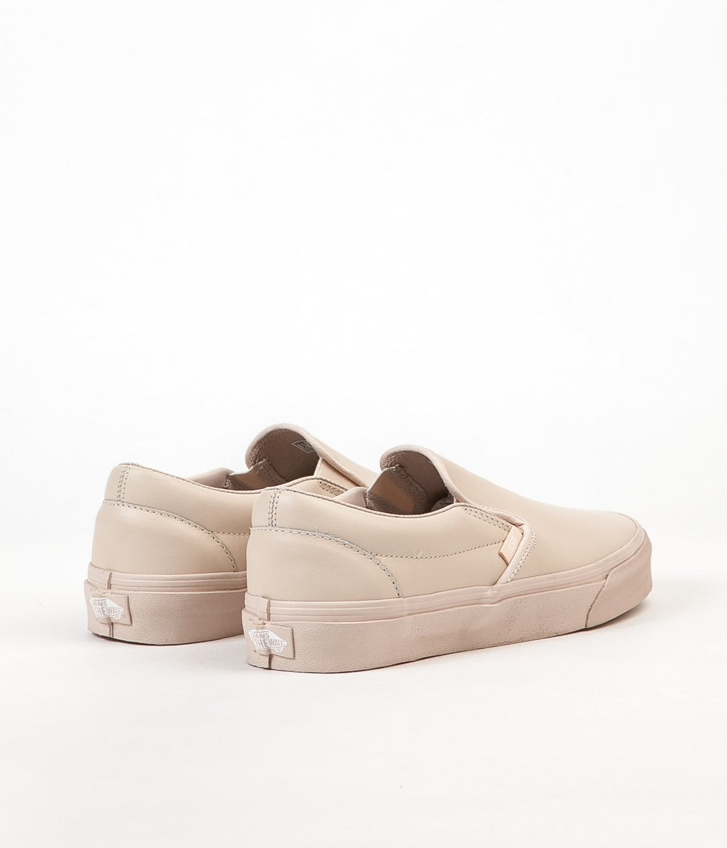 Vans Classic Slip On Leather Shoes - Whisper Pink / Mono