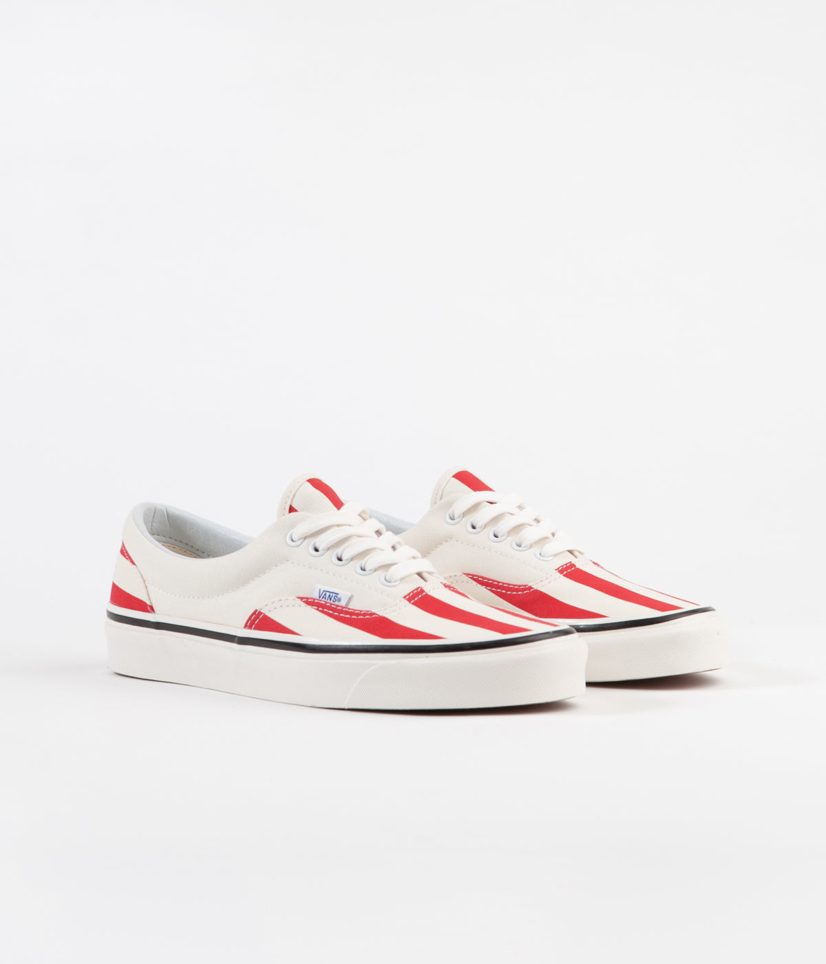 56a77a92e6 ... Vans Era 95 DX Anaheim Factory Shoes - OG White   OG Red   Big Stripes  ...