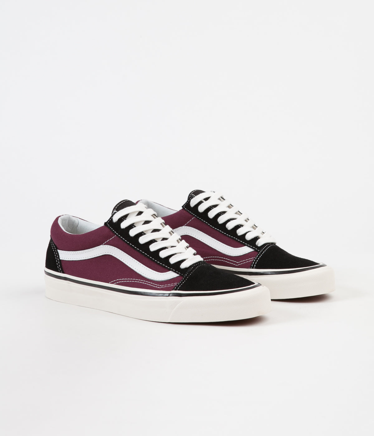 eb3d7a43f8 ... Vans Old Skool 36 DX Anaheim Factory Shoes - Black   OG Burgundy ...