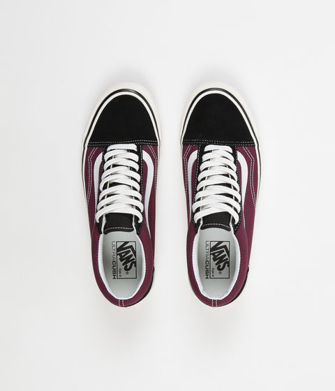 Vans Old Skool 36 DX Anaheim Factory Shoes - Black / OG Burgundy