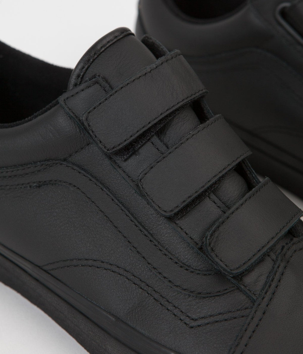 Vans Old Skool V Mono Leather Shoes - Black