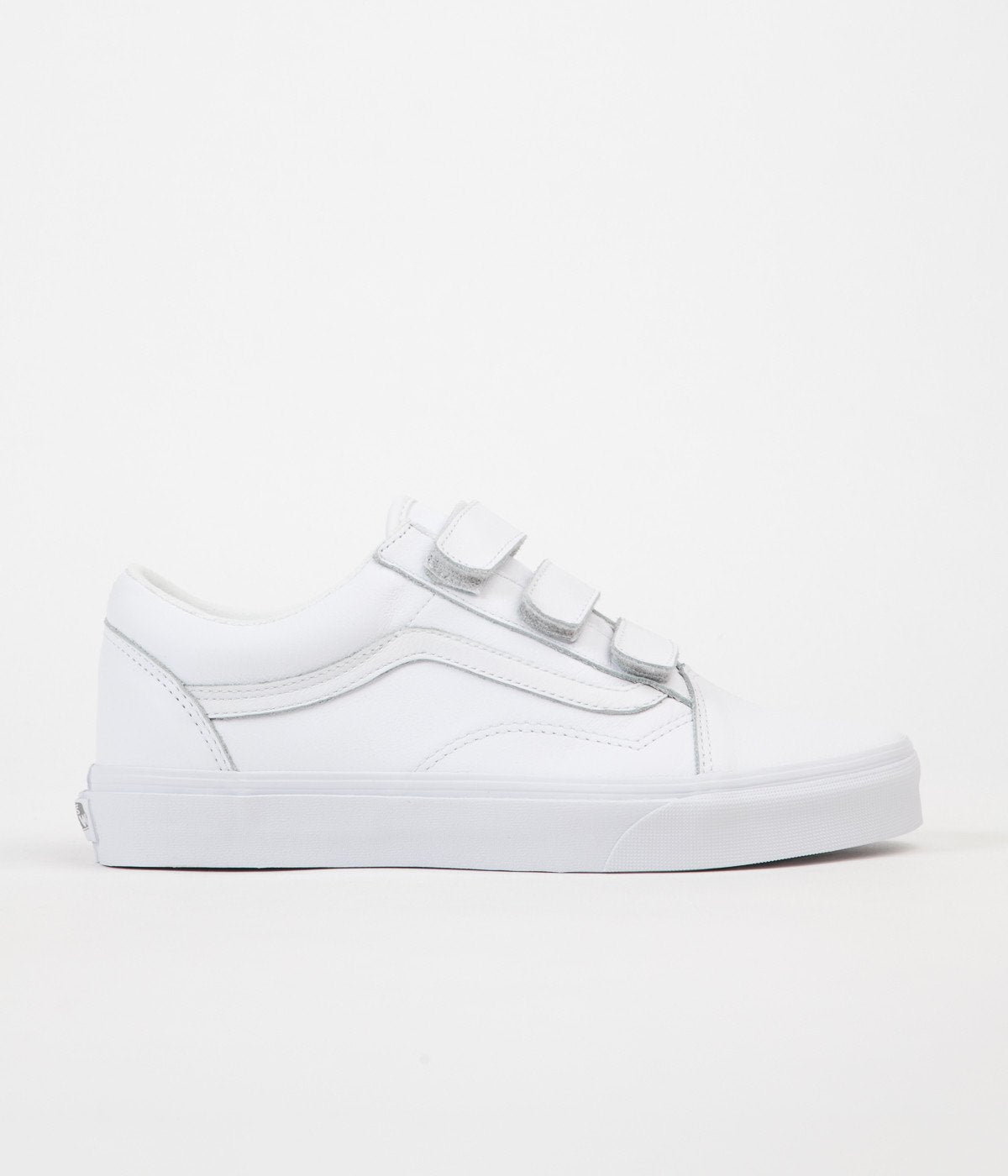 e091438558 ... Vans Old Skool V Mono Leather Shoes - True White ...