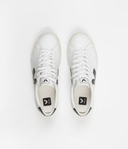 Veja Esplar Low Logo Leather Shoes - Extra White / Black