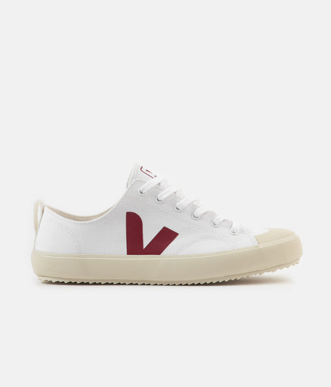 Veja Womens Nova Canvas Shoes - White / Marsala