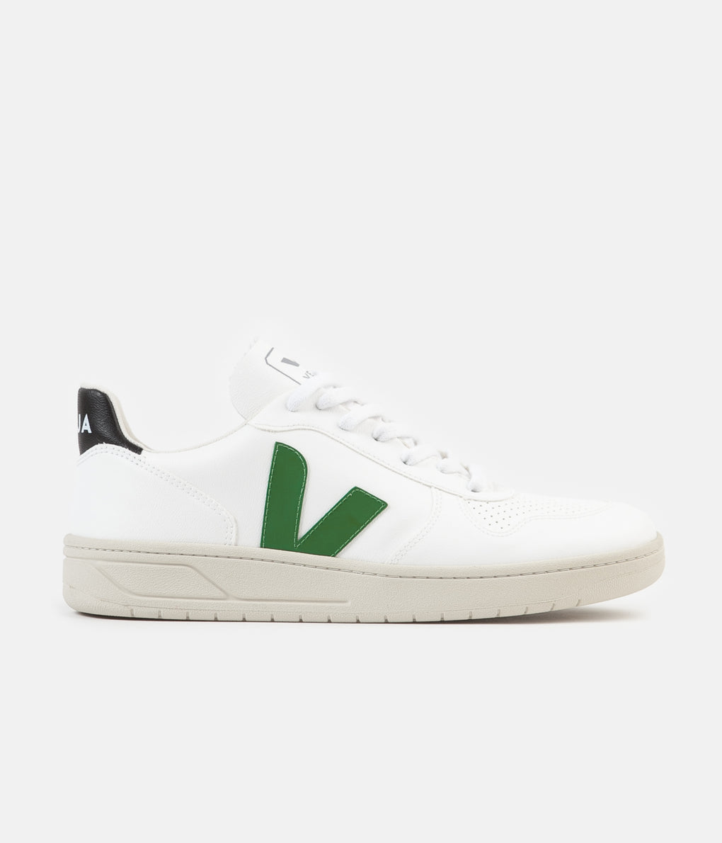 Veja V-10 Bastille CWL Shoes - White / Emeraude / Black
