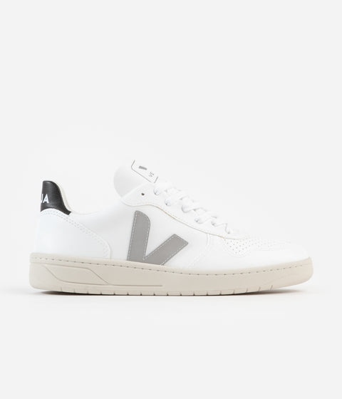 Veja V-10 CWL Shoes - White / Oxford Grey - Black