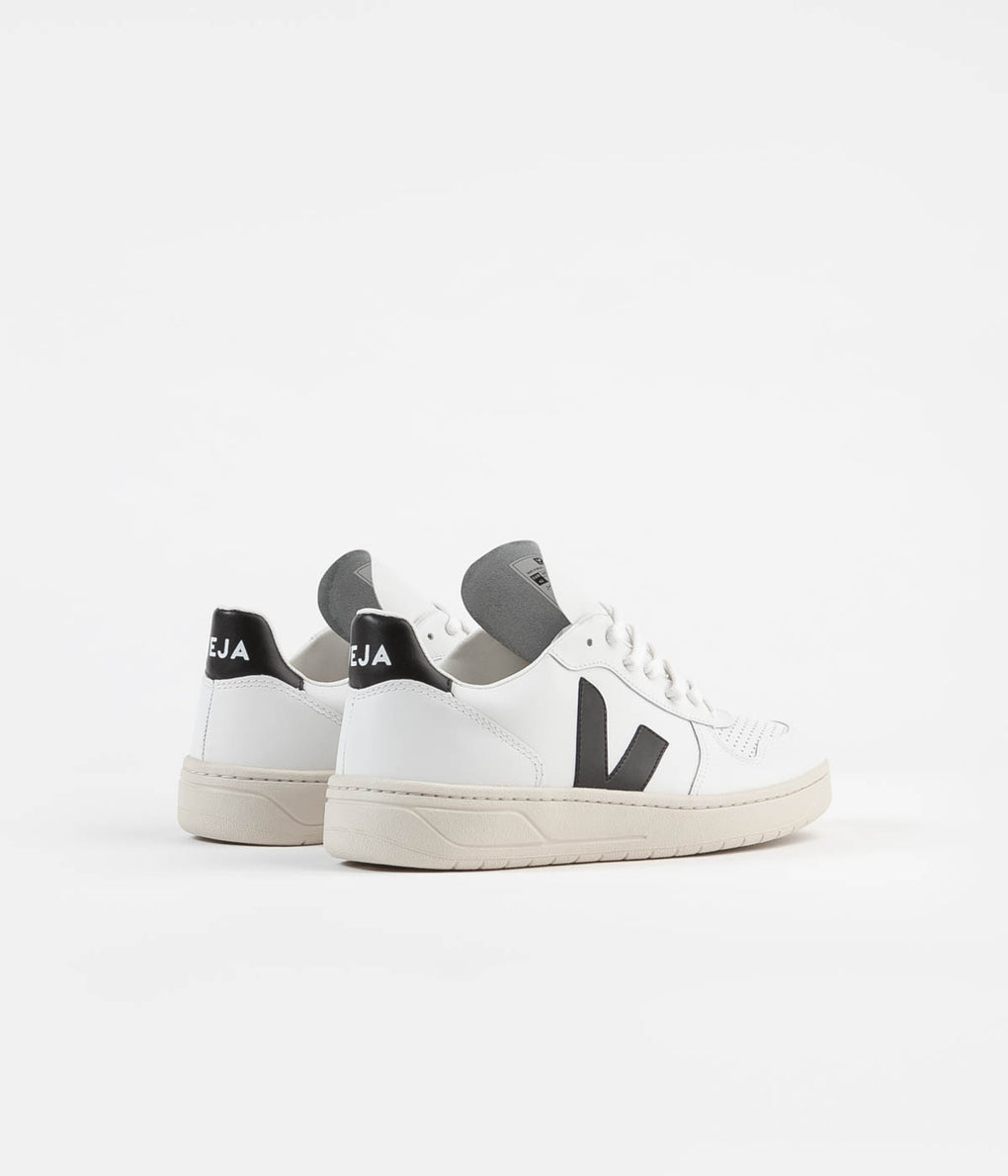 Veja V-10 Leather Shoes - Extra White / Black